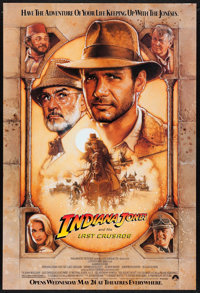 """Indiana Jones and the Last Crusade (Paramount, 1989). One Sheet (27"""" X 40"""") SS Advance. Action"""