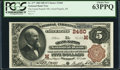National Bank Notes:Michigan, Grand Rapids, MI - $5 1882 Brown Back Fr. 477 The Grand Rapids NB Ch. # (M)2460. ...
