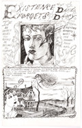 "Original Comic Art:Complete Story, Dame Darcy Meat Cake #4 Complete 2-Page Story ""Existence Forgets"" Original Art (Fantagraphics, 1995).... (Total: 2 Original Art)"