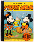 Platinum Age (1897-1937):Miscellaneous, Big Little Book #4062A Mickey Mouse Autographed by Floyd Gottfredson (Whitman, 1935) Condition: VG....