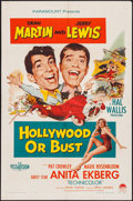 "Movie Posters:Comedy, Hollywood or Bust (Paramount, 1956). One Sheet (27"" X 41"").Comedy.. ..."