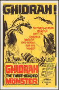 "Movie Posters:Science Fiction, Ghidrah, the Three-Headed Monster (Toho, 1964). One Sheet (27"" X 41""). Science Fiction.. ..."