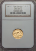 Commemorative Gold, 1915-S $2 1/2 Panama-Pacific Quarter Eagle MS61 NGC....