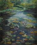 Paintings, RITA HOFFMAN SHULAK (American 20th Century) . Vancouver's Water Lily Pond, an Inspiration . Oil on canvas . 24 x 19-1/2i... (Total: 1 Item)