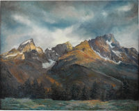 RITA HOFFMAN SHULAK (American 20th Century) Freedom Among the Tetons Oil on canvas 24 x 30in. Signed lower right