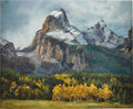 Illustration:Magazine, RITA HOFFMAN SHULAK (American 20th Century) . Grandeur of Lightin Glorification, the Teton Range . Oil on canvas . 20 x...(Total: 1 Item)