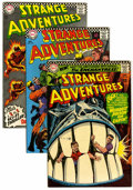 Silver Age (1956-1969):Science Fiction, Strange Adventures Group (DC, 1966-67) Condition: Average VF.... (Total: 4 Comic Books)