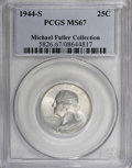 Washington Quarters, 1944-S 25C MS67 PCGS....