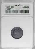 Proof Seated Dimes, 1882 10C PR63 ANACS....
