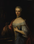 Fine Art - Painting, European:Antique  (Pre 1900), Attributed to LOUIS TOCQUÉ (French 1696-1772). Portrait of theDuchess of Montmorency. Oil on canvas. 42 x 32 inches (10...
