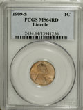 Lincoln Cents, 1909-S 1C MS64 Red PCGS....