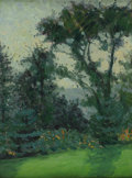 Fine Art - Painting, American:Modern  (1900 1949)  , JANE PETERSON (American 1876-1965). Louis Comfort Tiffany'sGarden, c. 1911. Oil on original unlined canvas. 18 x 14 inc...
