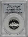 Proof Statehood Quarters, 1999-S 25C New Jersey Silver PR70 Deep Cameo PCGS....