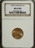Lincoln Cents, 1909-S 1C MS65 Red NGC....
