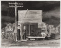 Prints, CARROLL CLOAR (1913-1994). Texas Store, 1930s to 1940s. Lithograph on paper. 10 x 12-3/4 inches (25.4 x 32.4 cm). Signed...