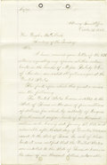 Military & Patriotic:Civil War, Opinion of Henry Stanberry on Texas Bonds Sold During the Civil War....