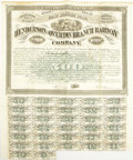 Autographs:Statesmen, Henderson and Overton Branch Railway Company 7% Gold Bond 1876.....