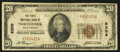 National Bank Notes:West Virginia, Northfork, WV - $20 1929 Ty. 1 The First NB Ch. # 8309. ...
