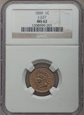 1859 P1C J-227 MS62 NGC. NGC Census: (2/7). PCGS Population: (1/17). ...(PCGS# 11931)