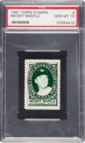 Baseball Cards:Singles (1960-1969), 1961 Topps Stamps Mickey Mantle PSA Gem Mint 10.. ...