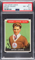 Olympic Cards:General, 1933 Sport Kings Anton Lekang #10 PSA NM-MT+ 8.5 - Pop One, NoneHigher! ...