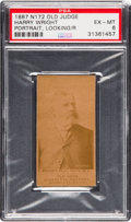Baseball Cards:Singles (Pre-1930), 1887 N172 Old Judge Harry Wright (Phila. NL) Portrait/Looking RightPSA EX-MT 6. . ...