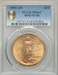 1909-S/S $20 FS-501 MS64 PCGS Secure