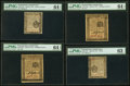 Colonial Notes:Pennsylvania, Four Pennsylvania April 25, 1776 Notes - 3d PMG Choice Uncirculated 63, 4d PMG Choice Uncirculated 64 EPQ, 2s 6d PMG Choice Un... (Total: 4 notes)