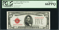 Fr. 1529* $5 1928D Legal Tender Note. PCGS Gem New 66PPQ