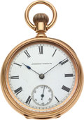 Timepieces:Pocket (pre 1900) , Waltham 14k Gold 14 Size Riverside. ...