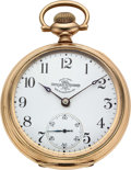 Timepieces:Pocket (pre 1900) , Ball, Hamilton Private Label 17 Jewel Official Standard For W.V.Foster, Tipton, Ind.. ...