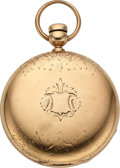 Timepieces:Pocket (pre 1900) , Cornell Watch Co. Gold J.C. Adams Chicago Ill. 18 Size. ...