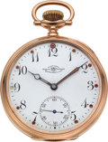Timepieces:Pocket (post 1900), Ball, Waltham 14k Gold Official Standard. ...