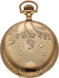 Timepieces:Pocket (pre 1900) , Waltham 14k Gold Model 88 American Watch Co. 19 Jewels. ...