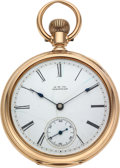 "Timepieces:Clocks, Waltham 14k Gold Model 88 ""Warwick"" Case: 14k ..."