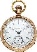 Timepieces:Pocket (pre 1900) , J. P. Stevens & Bro. Hampden 18 Size With Patented Regulator....