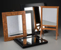 Decorative Arts, Continental:Other , Five German Wood Framed Mirrors. 17-1/2 inches high x 15 incheswide x 0-1/2 inch deep (44.5 x 38.1 x 1.3 cm) (largest). P...(Total: 5 Items)