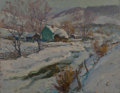 Fine Art - Painting, American:Contemporary   (1950 to present)  , William S. Darling (American, 1882-1963). The Homestead. Oilon canvas laid on Masonite. 14 x 16 inches (35.6 x 40.6 cm)...