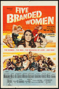 "Movie Posters:War, Five Branded Women (Paramount, 1960). One Sheet (27"" X 41""). War....."