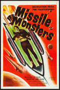 "Movie Posters:Science Fiction, Missile Monsters (Republic, 1958). Flat Folded One Sheet (27"" X41""). Science Fiction.. ..."