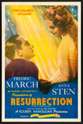 "Movie Posters:Drama, We Live Again (Film Classics, R-1944). One Sheet (27"" X 41""). Drama. Reissue Title: Resurrection.. ..."