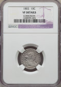 Early Dimes, 1802 10C JR-4, R.4 -- Corrosion -- NGC Details. VF....