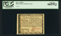 Colonial Notes:Rhode Island, Rhode Island July 2, 1780 $8 PCGS Gem New 66PPQ.. ...