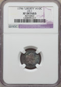 Early Half Dimes, 1796 H10C LIKERTY, V-1, LM-1, R.3 -- Repaired -- NGC Details.XF....