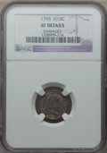 Early Half Dimes, 1795 H10C -- Damaged -- NGC Details. XF. NGC Census: (16/235). PCGSPopulation: (39/326). XF40. Mintage 78,600....
