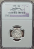 Early Dimes, 1807 10C JR-1, R.2, -- Improperly Cleaned -- NGC Details. Fine. NGCCensus: (8/222). PCGS Population: (1/11). Fine 12. Mint...