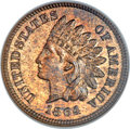 Proof Indian Cents, 1864 1C L On Ribbon PR64 Red and Brown NGC. Snow PR-2....