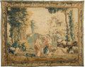 Rugs & Textiles:Tapestries, A Flemish Wool Tapestry with Pastoral Scenery, 18th century . 84inches high x 102-1/2 inches wide (213.4 x 260.4 cm). ...