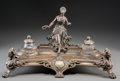 Silver Holloware, Continental:Holloware, A WMF Silver-Plated Encrier with Classical Motifs, Geislingen,Germany, early 20th century. Marks: (ostrich- WMF), OX,I/O...