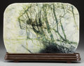 Asian:Chinese, A Chinese Henan Hsiuyen Scholar's Rock with Stand. 14 h x 20-1/2 wx 1 d inches (35.6 x 52.1 x 2.5 cm) (without stand). ...